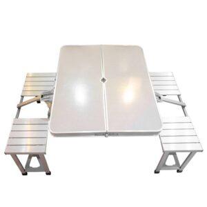 میز و صندلی سفری چهار نفره  تمام آلومینیوم